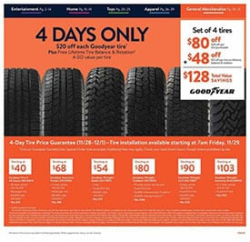 Walmart Ad Black Friday Goodyear Tire Deal 4 Days Only