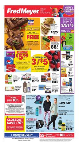 Fred Meyer Weekly Ad Boneless Chuck Roasts or Steaks BOGO Free