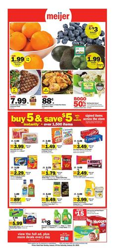 Meijer Ad Home Deals Jan 19 - 25, 2020