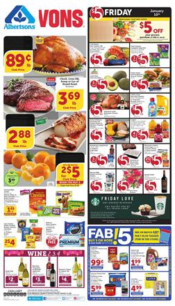 Vons Ad $5 Friday Sale Jan 10th 2020