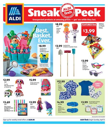 ALDI Ad In Store Sale Apr 5 11 2020