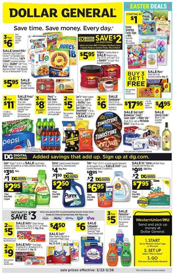 Dollar General Ad Mar 22 - 28, 2020