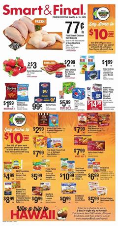 Smart and Final Ad Sale Mar 4 - 10, 2020