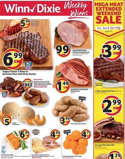 Winn Dixie Weekly Ad Preview Apr 1 7 2020