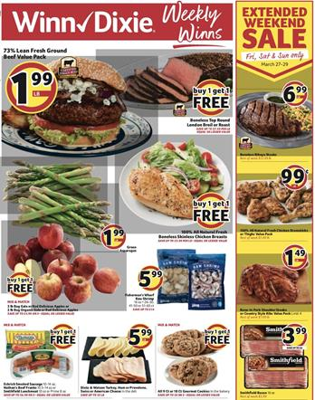 Winn Dixie Weekly Ad Preview Mar 25 - 31, 2020