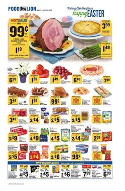 Food Lion Weekly Ad Easter Apr 8 - 14, 2020