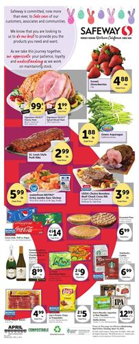 Safeway Weekly Ad Sale Apr 8 - 14, 2020