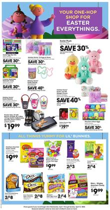 Weekly Ad Sale Kroger Easter Products Apr 1 - 7, 2020
