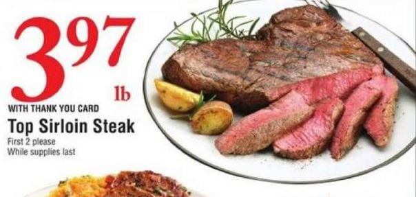 Bashas Ad Top Sirloin Steak