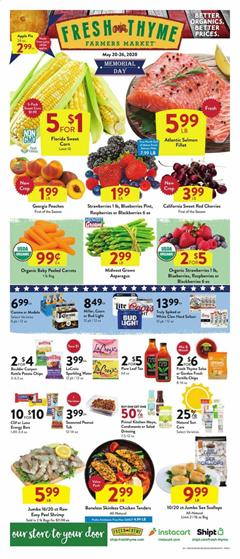 Fresh Thyme Ad Memorial Day Sale May 20 - 26, 2020
