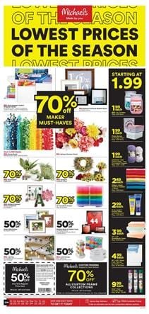 Essentials of Craft From Michaels Ad June 2020
