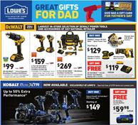 Lowe's Weekly Ad Father's Day