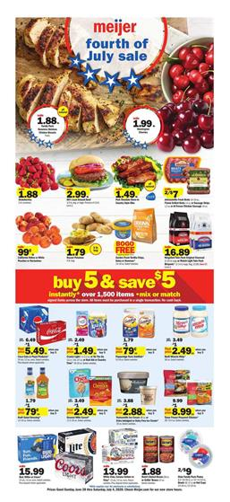 Meijer 4th of July Sale