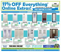 Menards Door Sale and Online Extras Jun 14 - 20, 2020