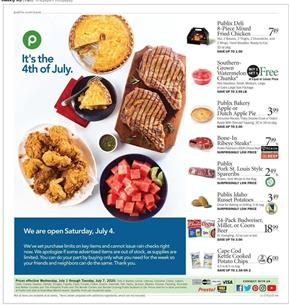 Publix 4th of July Deals | Weekly Ad Jul 1 - 7