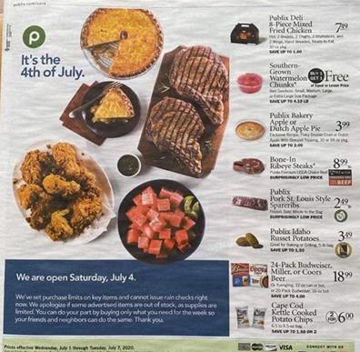 Publix Weekly Ad Preview Jul 1 7 2020