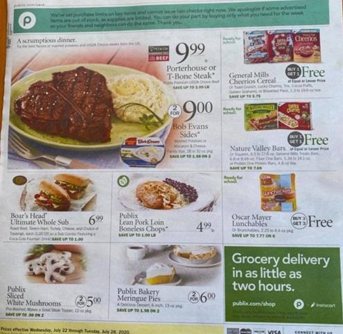 Publix Weekly Ad Preview Jul 22 - 28, 2020
