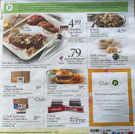 Publix Weekly Ad Preview Aug 26 - Sep 1, 2020