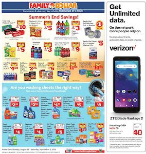 Family Dollar Ad Cleaning Supplies Aug 30 - Sep 5, 2020