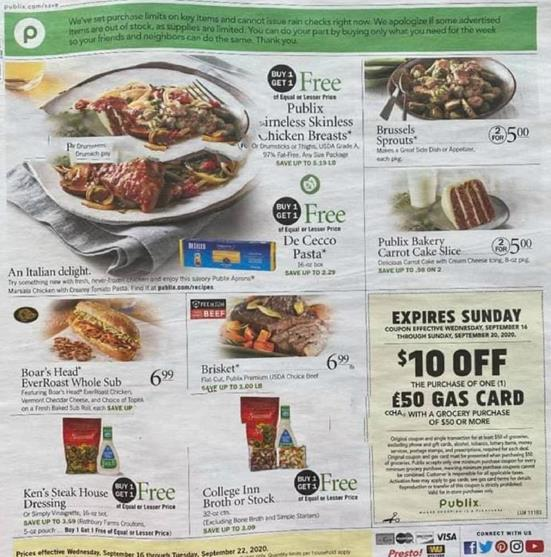 Publix Weekly Ad Preview Sep 16 - 22, 2020
