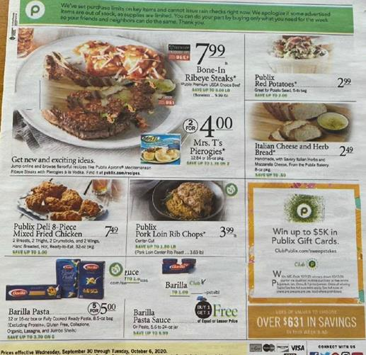 Publix Weekly Ad Preview Sep 30 - Oct 6, 2020