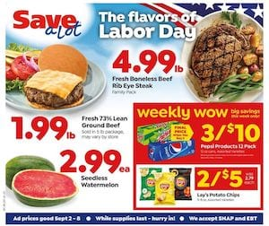 Save a Lot Ad Labor Day Sale Sep 2 8 2020