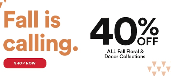 Michaels Halloween Décor 40% Off