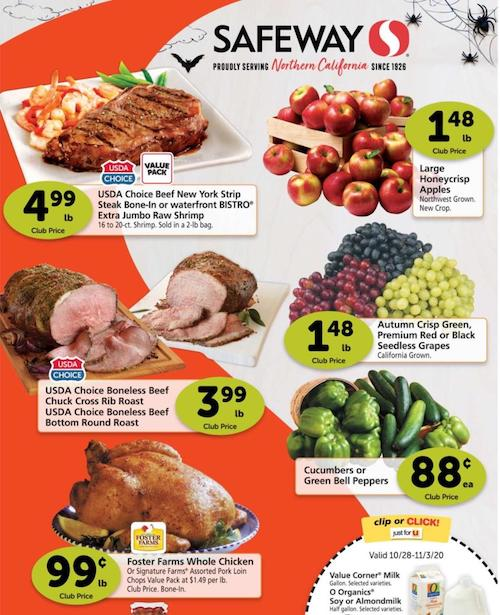 Safeway Weekly Ad Oct 28 - Nov 3, 2020