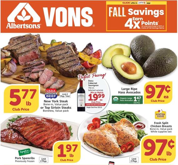 Vons Weekly Ad Preview Oct 7 13 2020