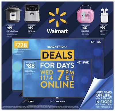 Walmart Black Friday Ad Deals Online Nov 4 - 8 2020