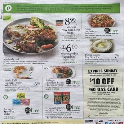 Publix Weekly Ad Preview Nov 11 - 17