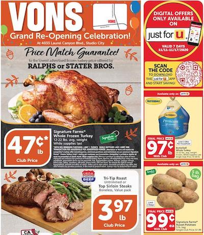 Vons Weekly Ad Preview Nov 11 - 17