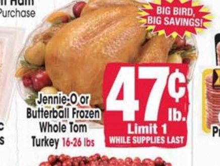 Jewel-Osco Christmas Turkey Deal 2020