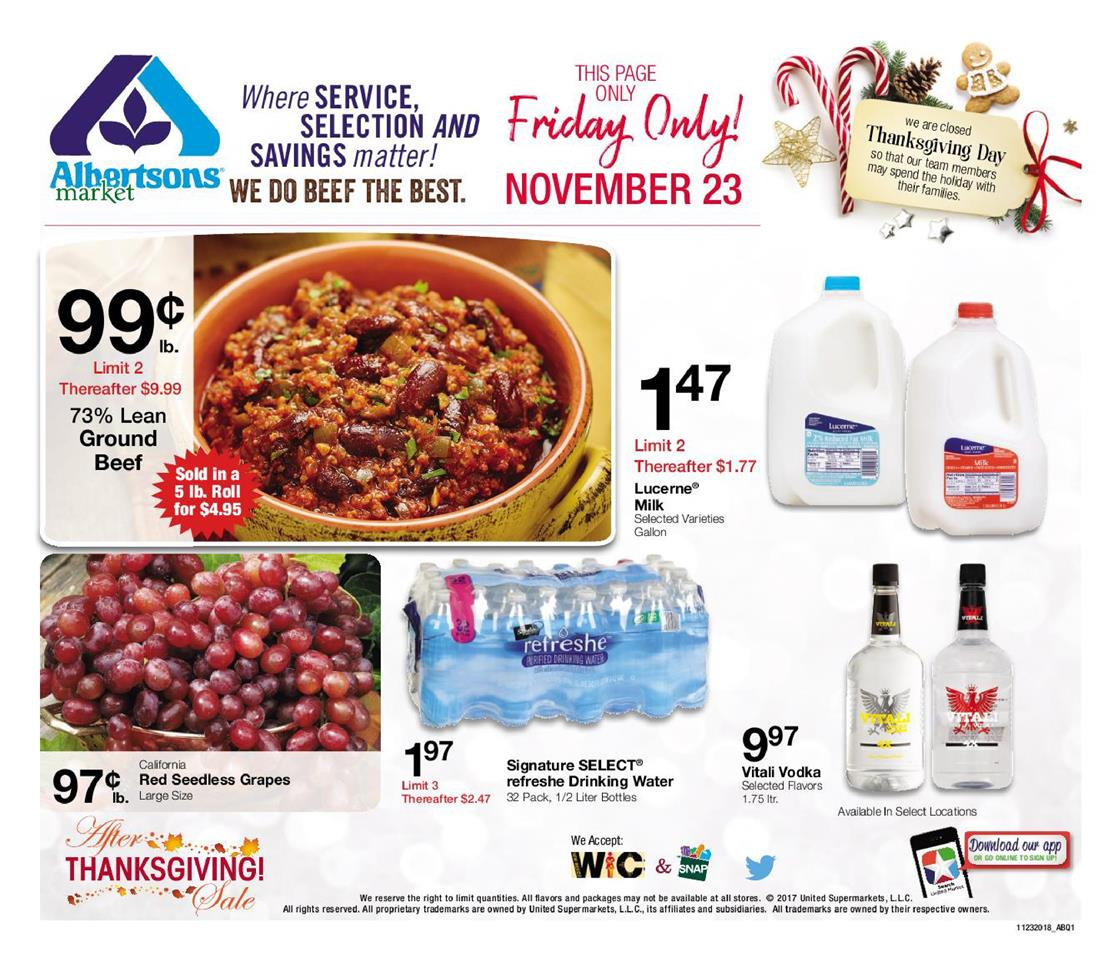 albertsons black friday ad 2018