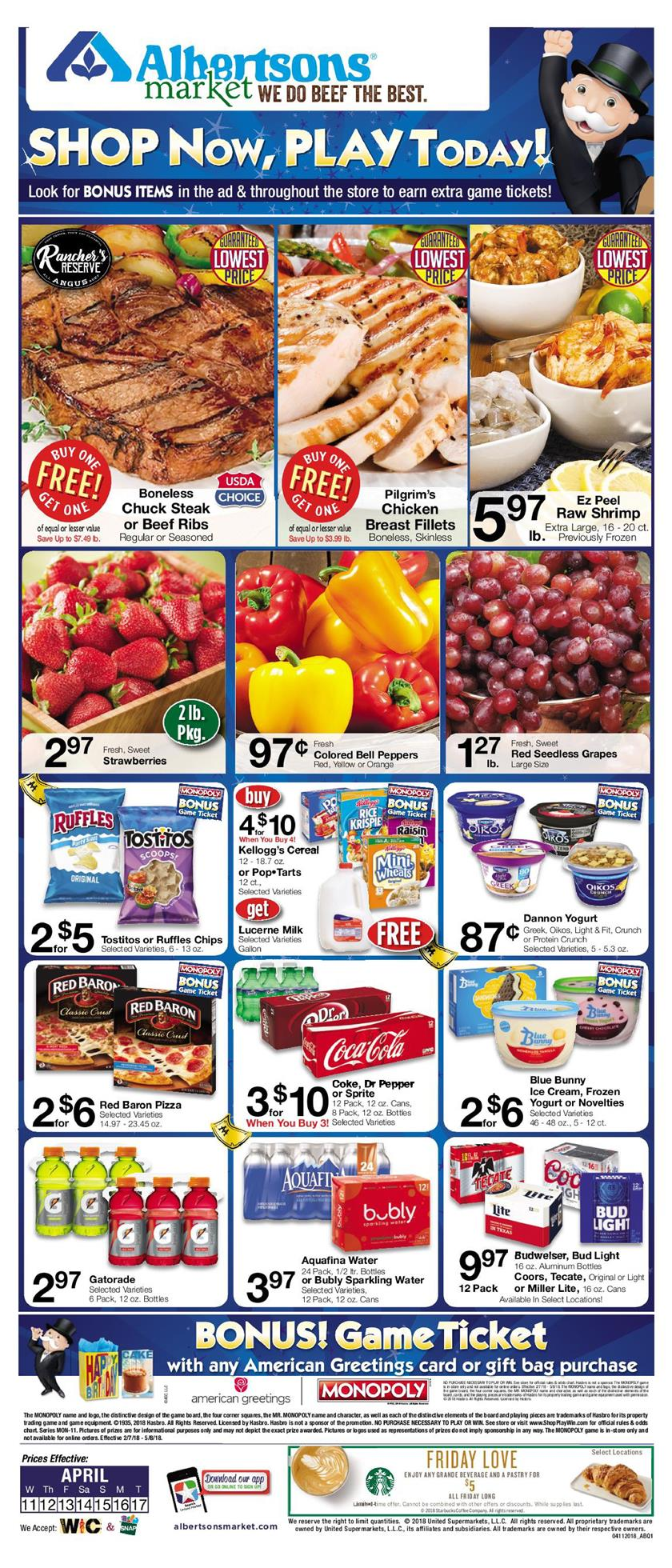 albertsons weekly ad april 11 2018