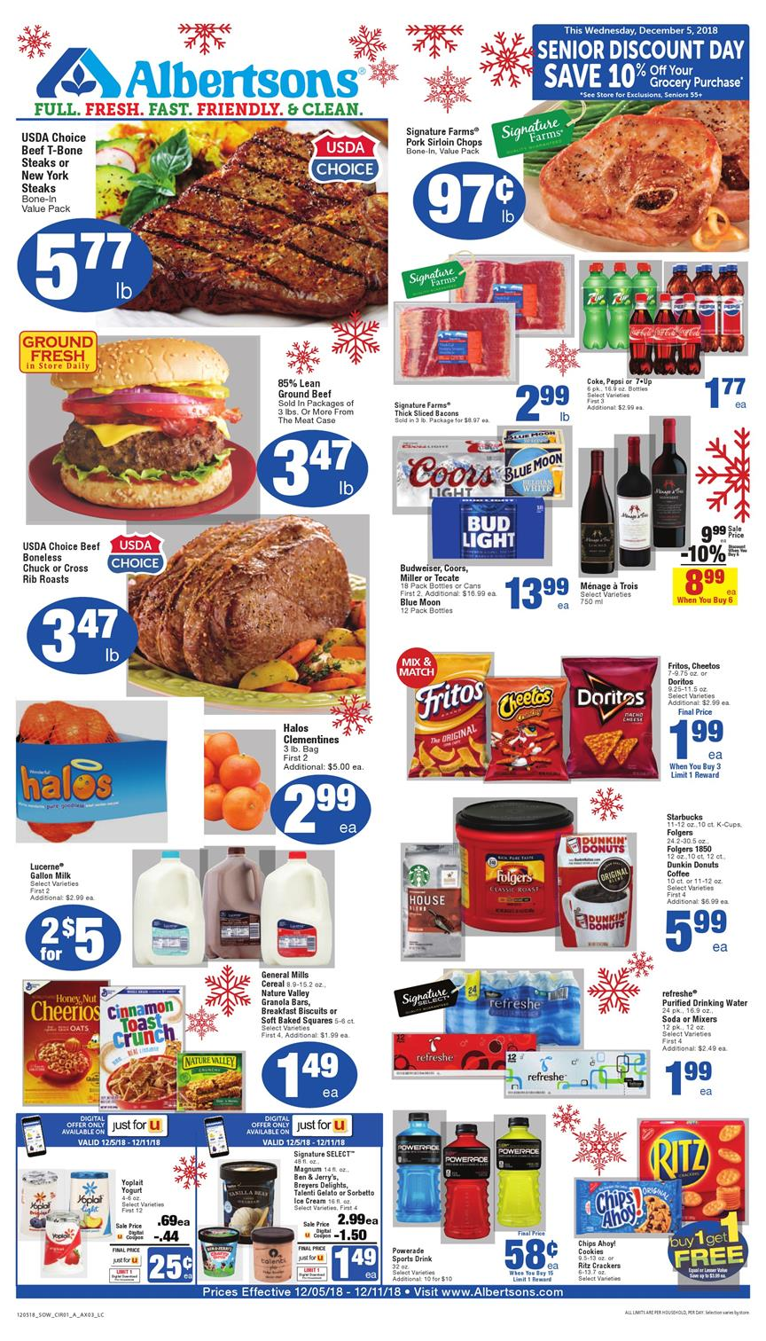 albertsons weekly ad dec 5 2018