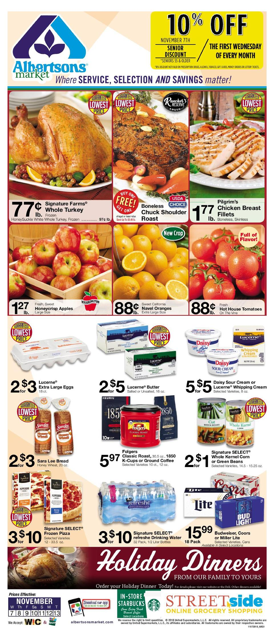 albertsons weekly ad nov 7 2018