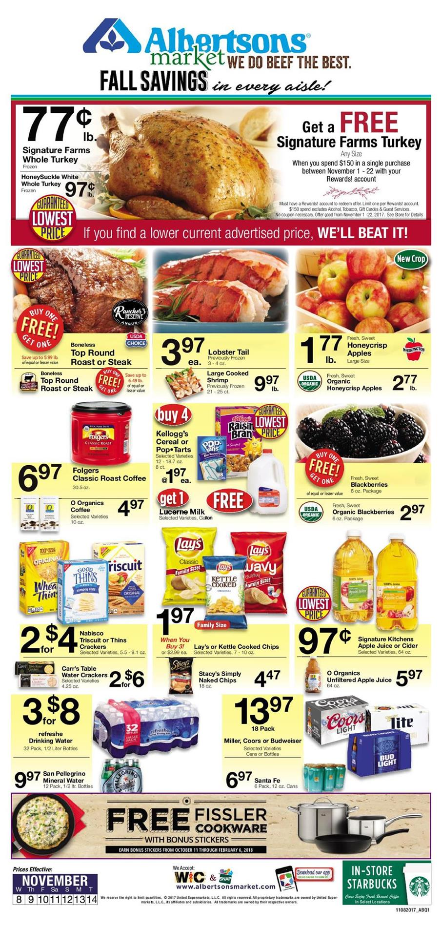albertsons weekly ad november 8 2017