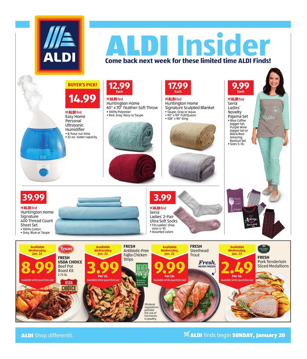 aldi insider ad jan 20 26 2019. Black Bedroom Furniture Sets. Home Design Ideas