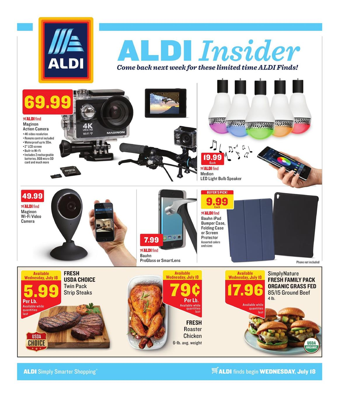 aldi insider ad jul 18 24 2018. Black Bedroom Furniture Sets. Home Design Ideas