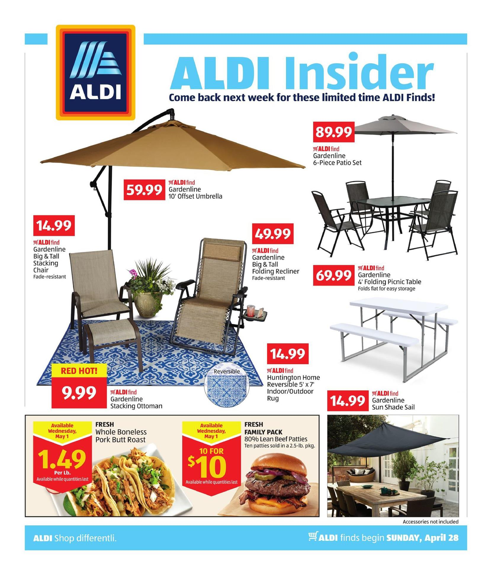 aldi weekly ad apr 28 may 5 2019. Black Bedroom Furniture Sets. Home Design Ideas