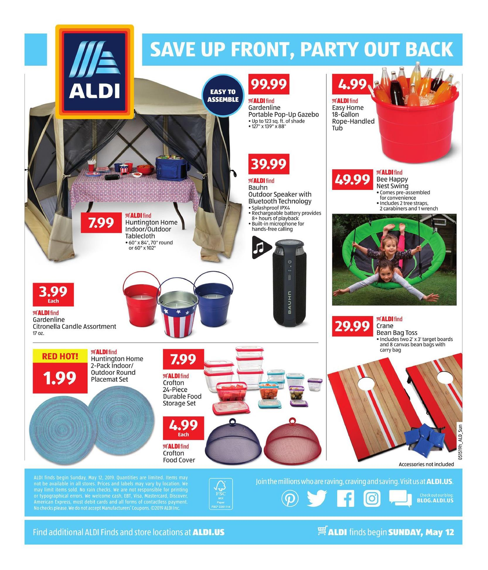 aldi weekly ad may 12 19 2019 page 4. Black Bedroom Furniture Sets. Home Design Ideas