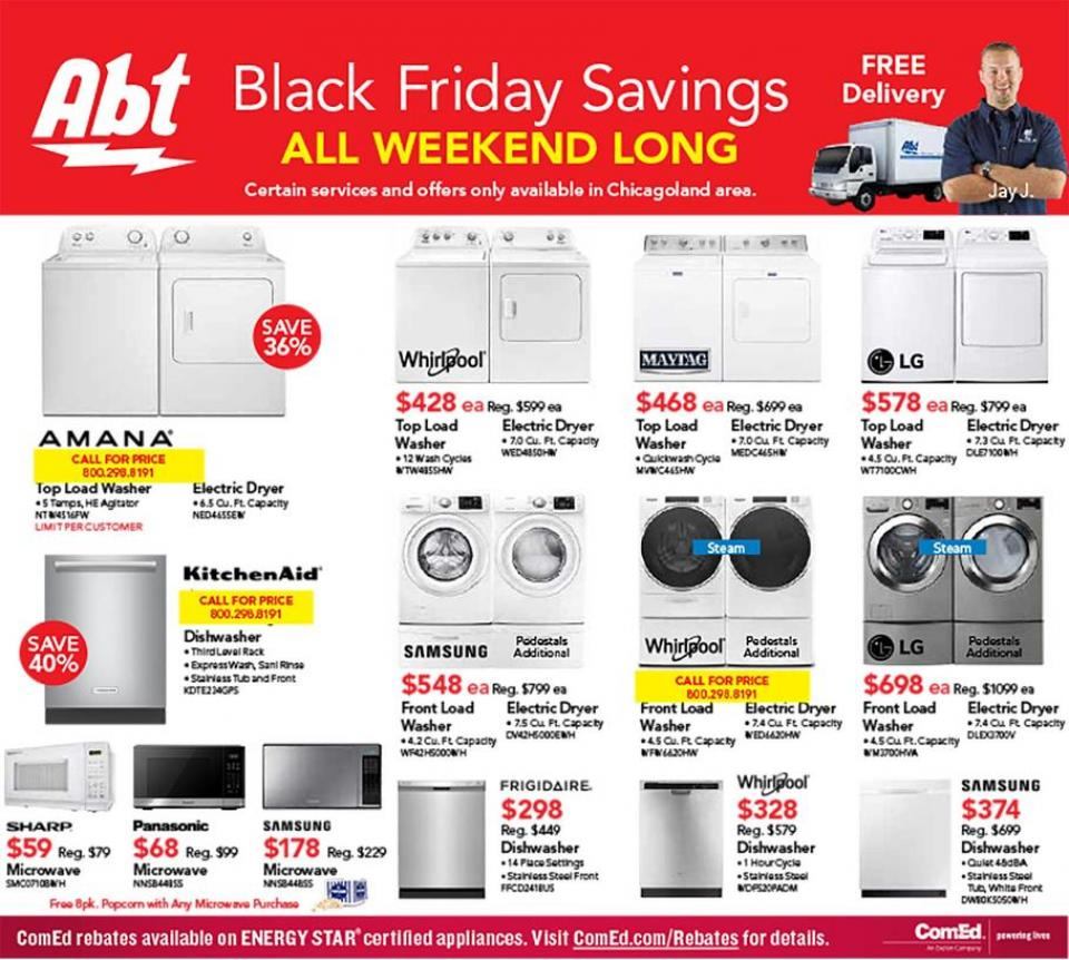 Abt Electronics black friday ad