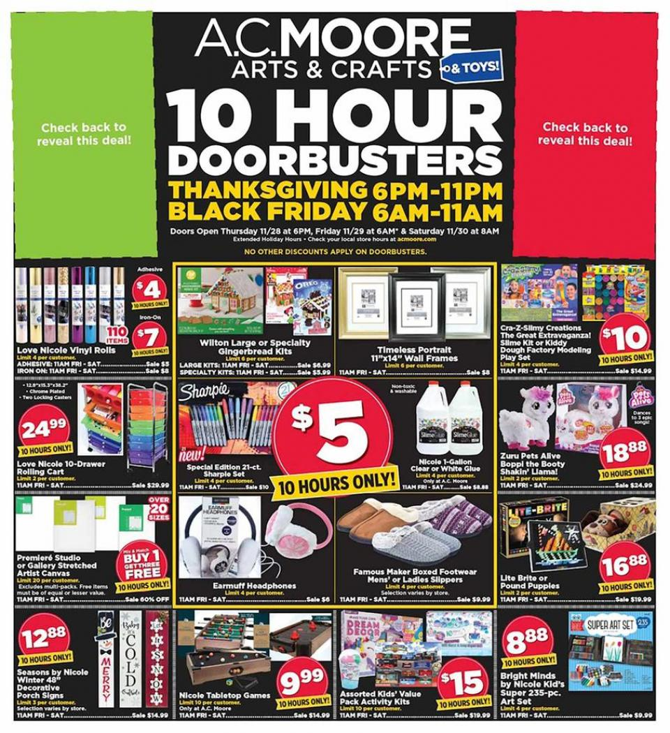 A.C. Moore black friday ad