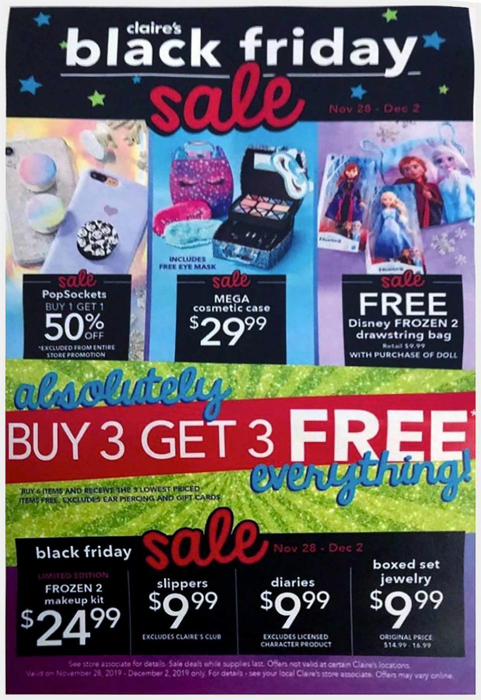 Claire's black friday ad