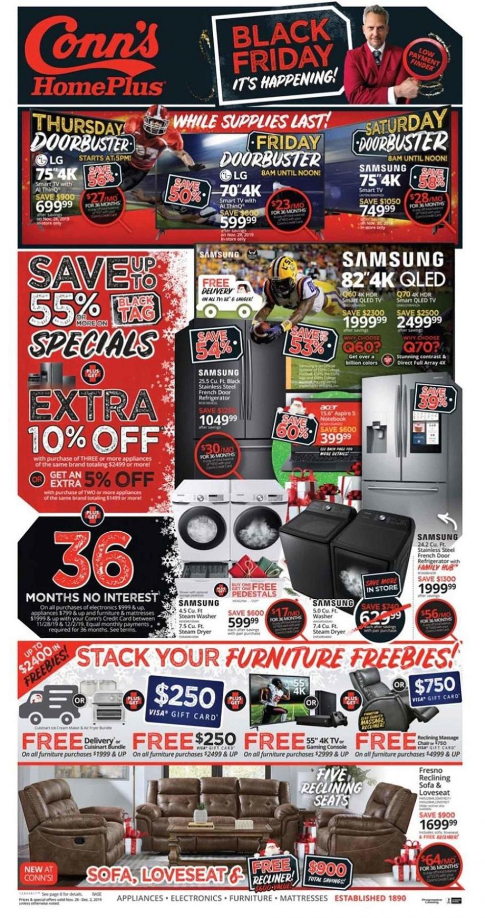 Conn's Homeplus black friday ad