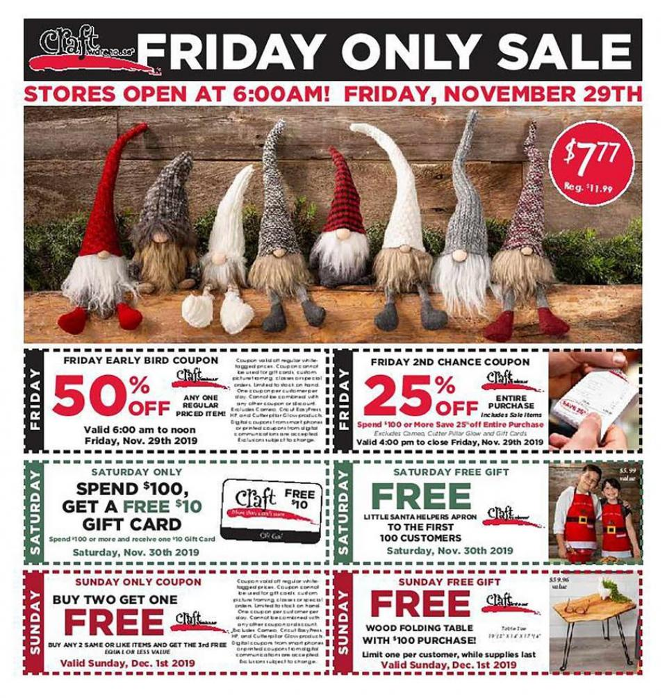 Craft Warehouse black friday ad