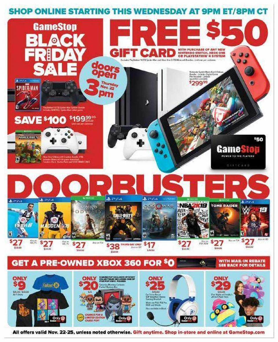 game stop black friday ad 2018. Black Bedroom Furniture Sets. Home Design Ideas
