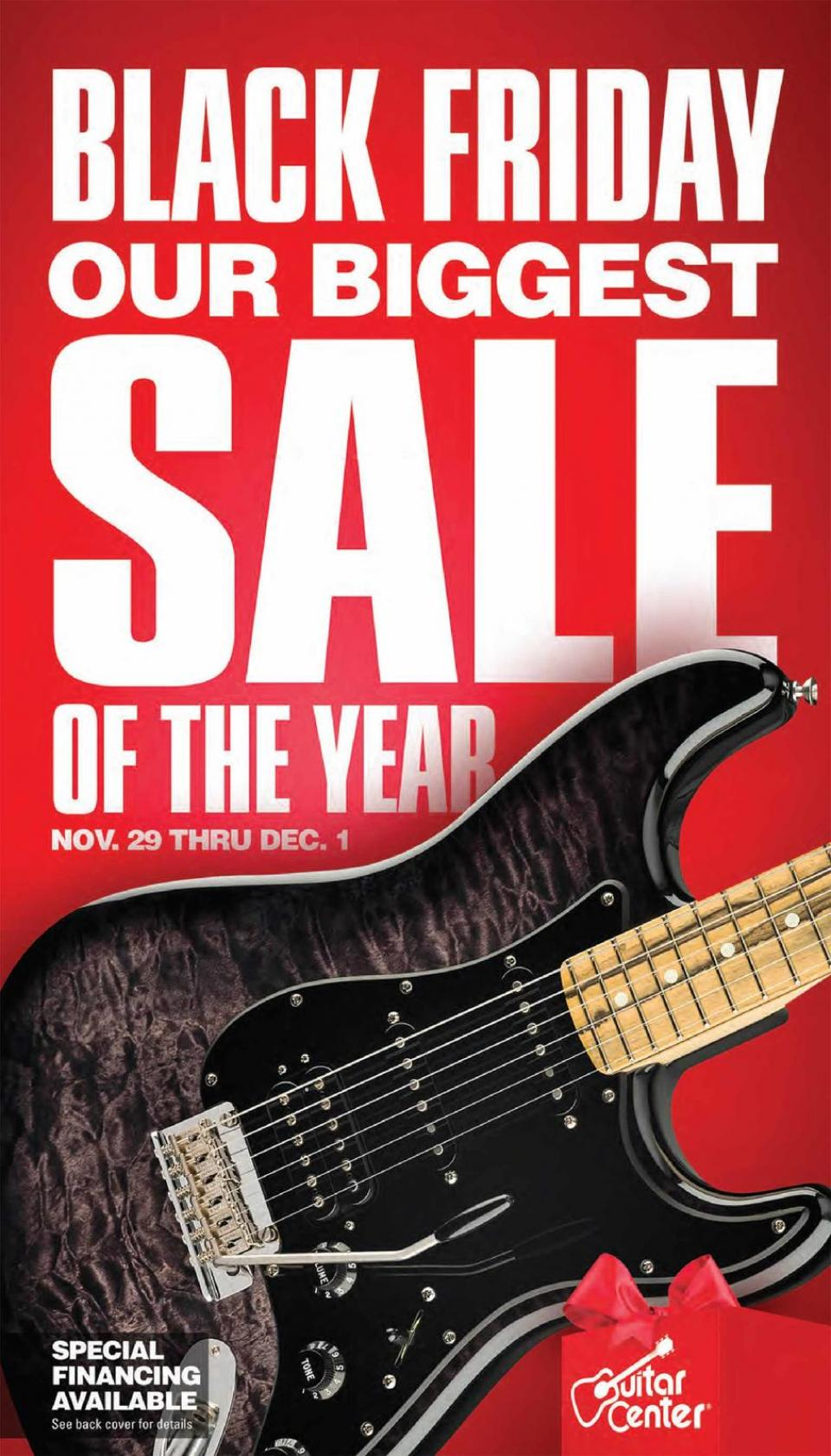 Guitar Centerblack friday ad
