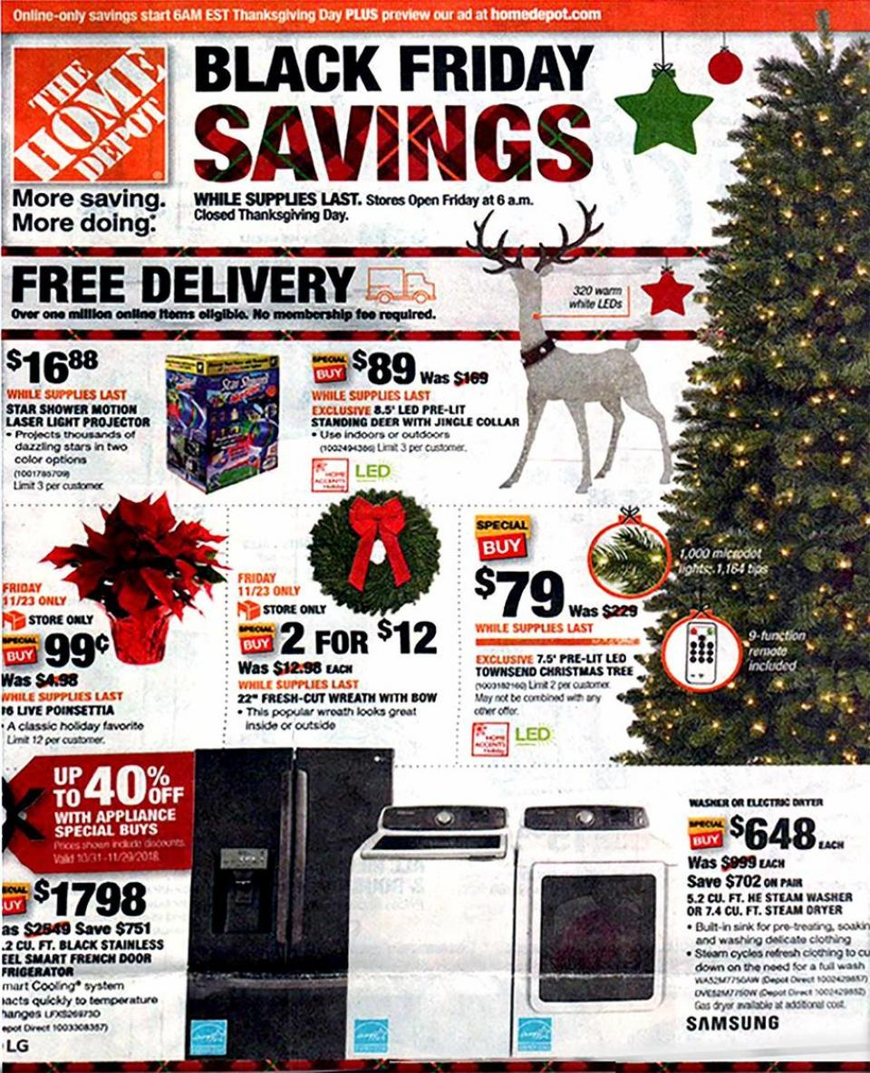 home depot black friday ad 2018. Black Bedroom Furniture Sets. Home Design Ideas